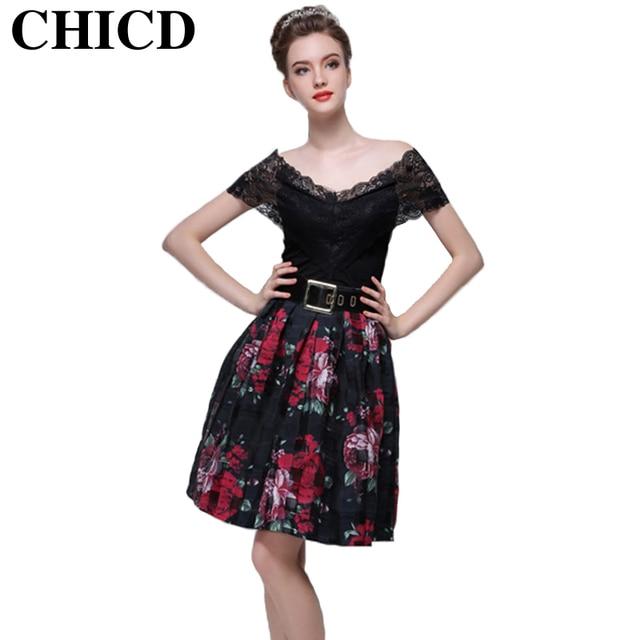 47ad52a182017 Chicd estampado floral faldas para mujer faldas de verano estilo plisado  retro casual vintage patrones falda