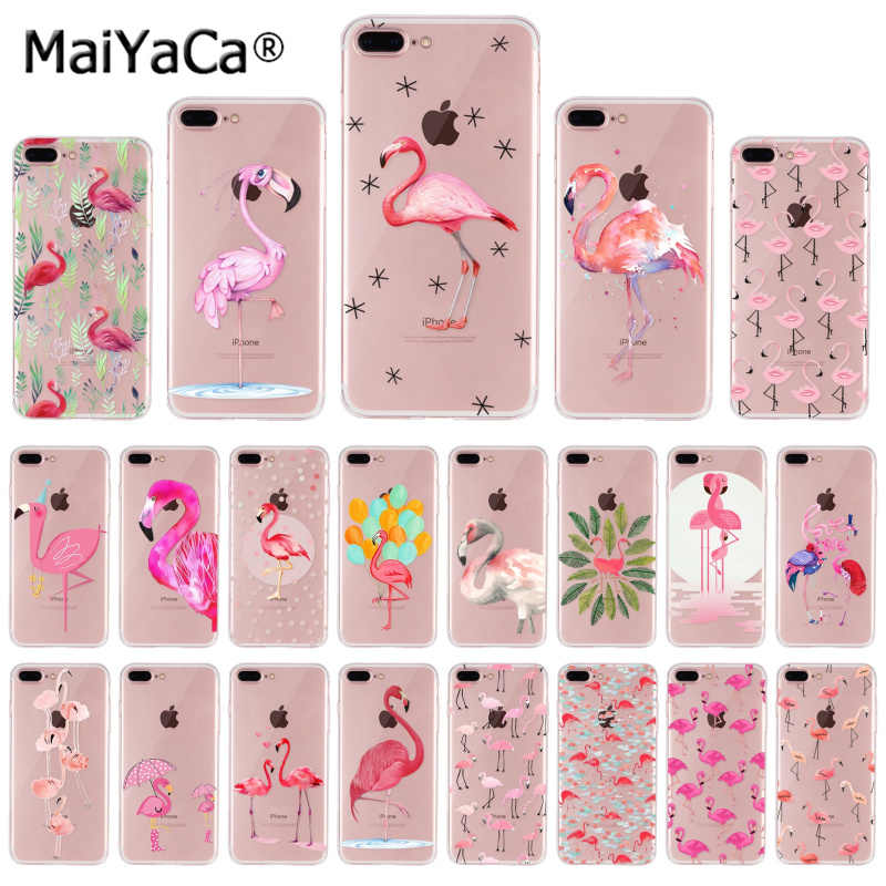 Maiyaca Silikon Rendah Wholesale Flamingo untuk iPhone 8 7 6 6 S Plus X 10 5 5 S SE 5C XS XR X MAX Mobile Cover