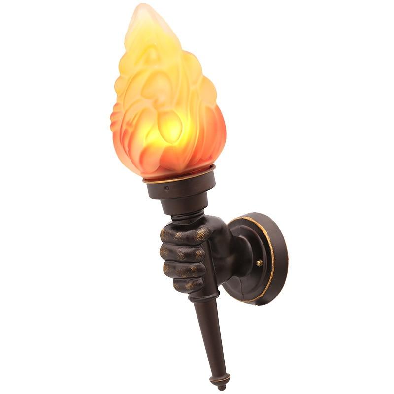 Torche créative applique murale Vintage torche porteur lampe murale Art industriel décor Bar Loft café Restaurant rétro applique murale