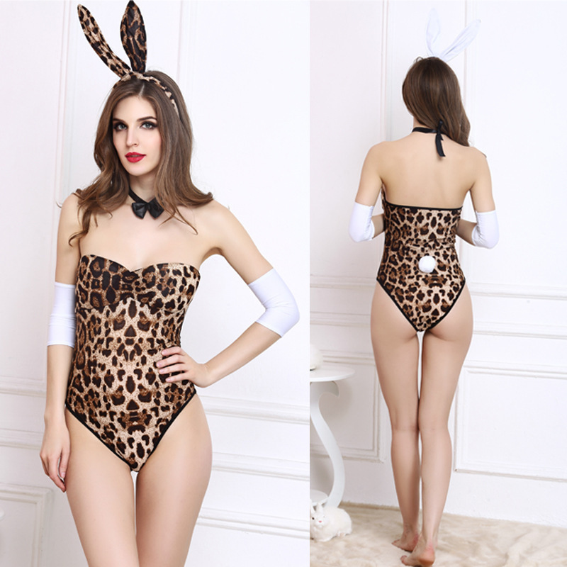 5266332bb Playboy Bunny Rabbit Girl Cosplay Porno Lingerie Overol Catsuit Body Sexy  Suit Babydoll Clubwear Leopard Teddies Bodysuit Pink-in Teddies   Bodysuits  from ...