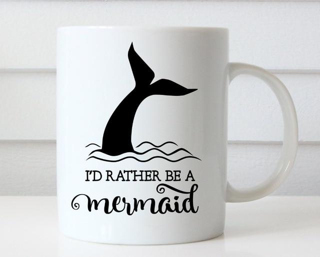 Sería bastante una sirena taza porcelana té Mugen etiqueta casera de ...