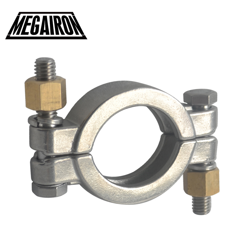 MEGAIRON 1-1/2 1.5 High Pressure Tri Clamp Clover Sanitary SS316 Clamp Clover Fit Ferrule OD 50.5MM megairon 8 stainless steel sus304 sanitary clamp single pin tri clamps clover for ferrule od 232mm