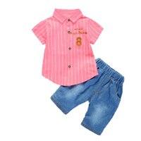 Summer Children Clothing T Shirt Pants 2 Pcs 1 2 3 4 Years Baby Boy Clothes