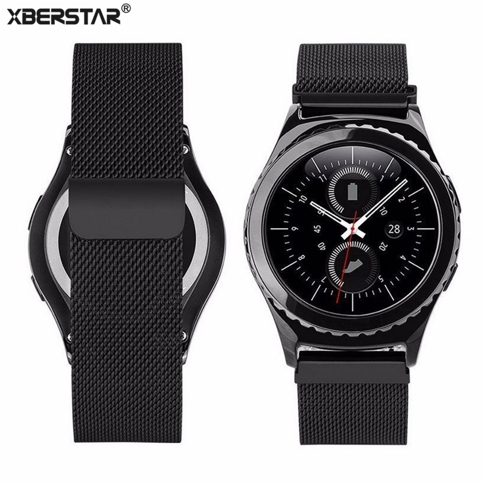 XBERSTAR Milanese Magnetic Loop Wrist Bands Bracelet Strap Watchband For Samsung Gear S3 Classic SM-R770 S3 Frontier