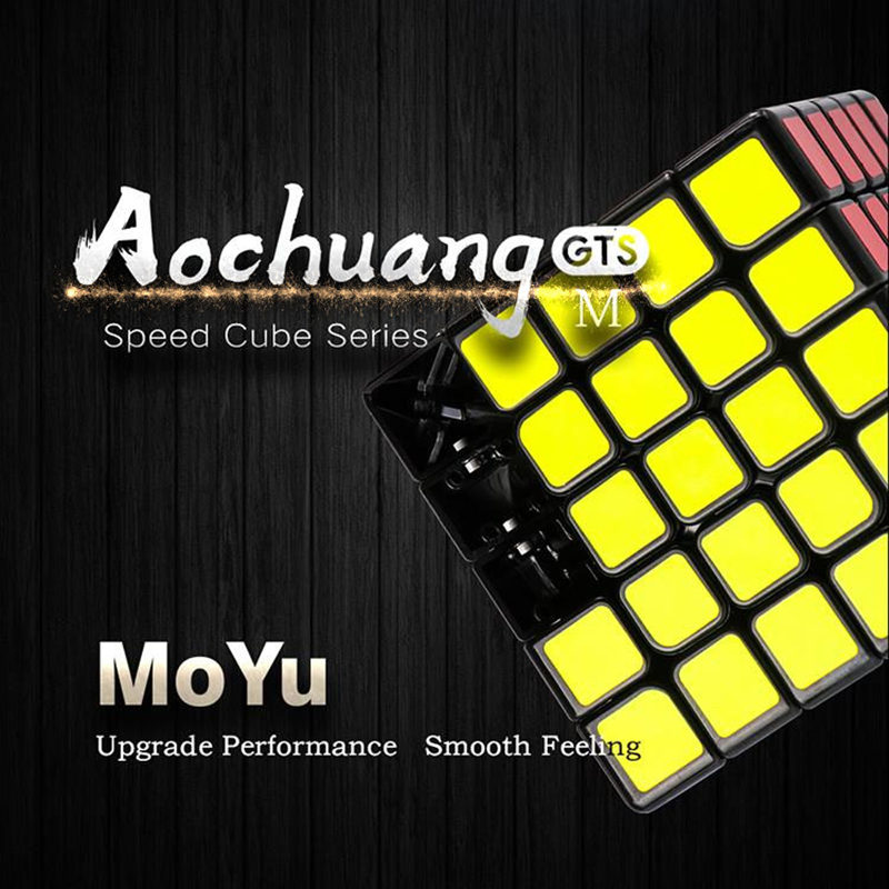 Moyu 5x5x5 aochuang GTS M magnets magic speed cube sticker less professional magnetic 5 on 5 puzzle cubes toys for children leadingstar moyu aochuang gts m 5x5 magnetic smart cube magic cube speed puzzle cubes educational toys for children