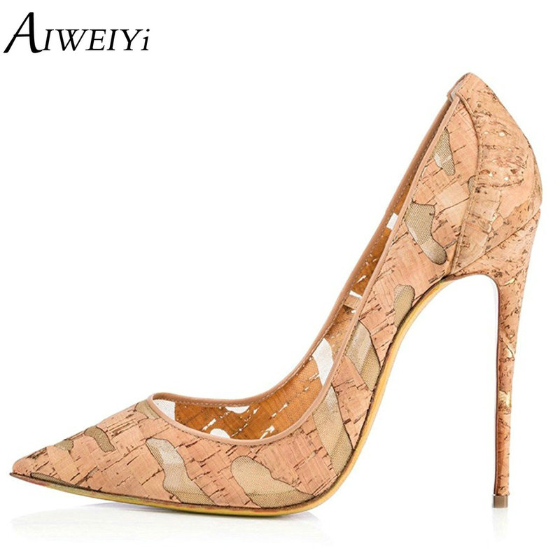 AIWEIYi Woman High Heels Pumps High Heels 12CM Women Shoes Thin Heels Wedding Shoes Pumps Black Nude Shoes Heels aiweiyi women s pumps shoes 100