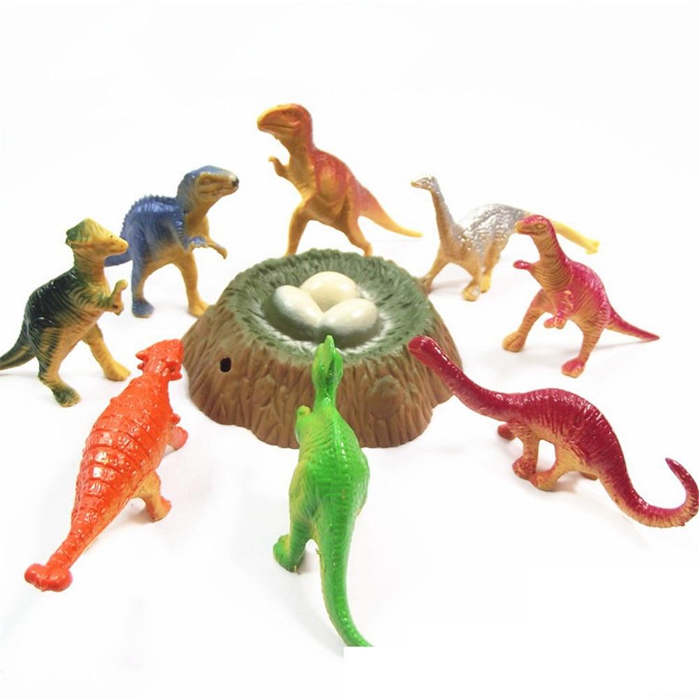 Action Figures Kids Boy Gift Jurassic World Park Tyrannosaurus Rex Dinosaur Forest Scenery Model Set Plastic Play Toys