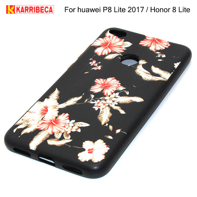 3D Relief flower silicone case huawei p8 lite 2017 honor 8 lite (13)
