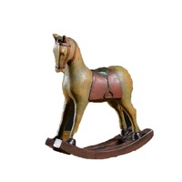 2017 New Design Rocking Resin Horse Figurines American Style Colored Drawing Furnishing Decoration Miniature