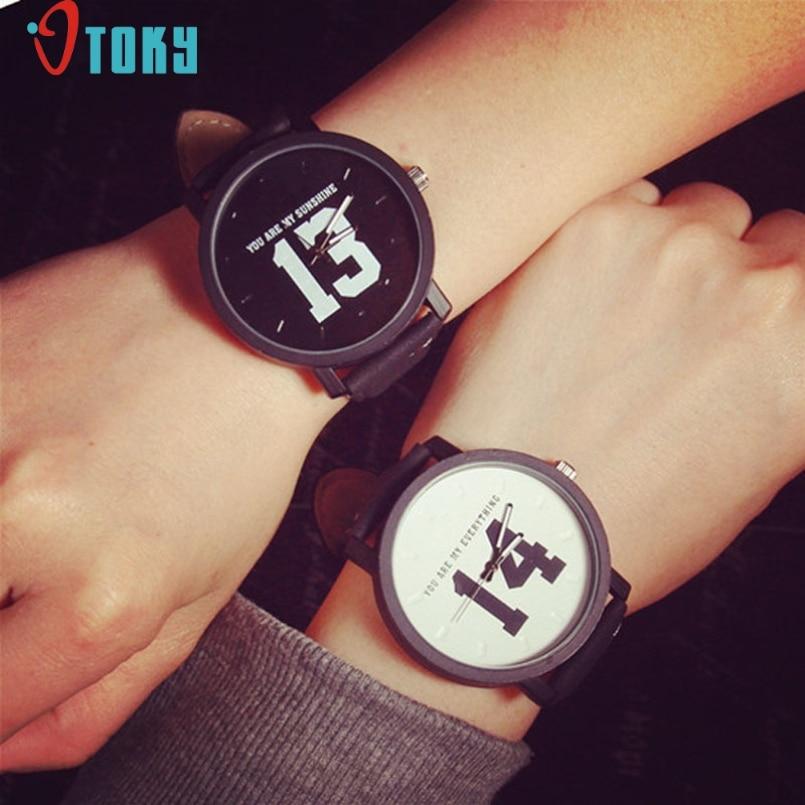 Excellent Quality OTOKY Relogio Feminino Women Analog Quartz Dial Hour Digital Watch Leather Men Wristwatch Reloj Mujer Gift