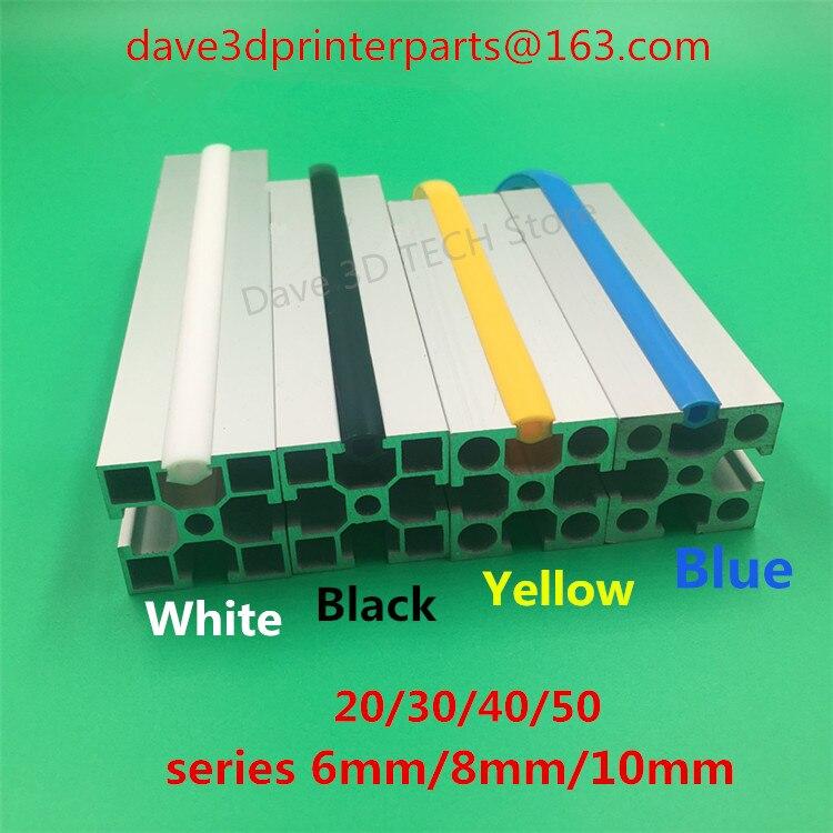 1 Meter 20/30/40/50 Serie 6mm/8mm/10mm Flache Dichtung Für 2020 Aluminium Profil Weiche Slot Abdeckung/panel Halter C-strahl Maschine