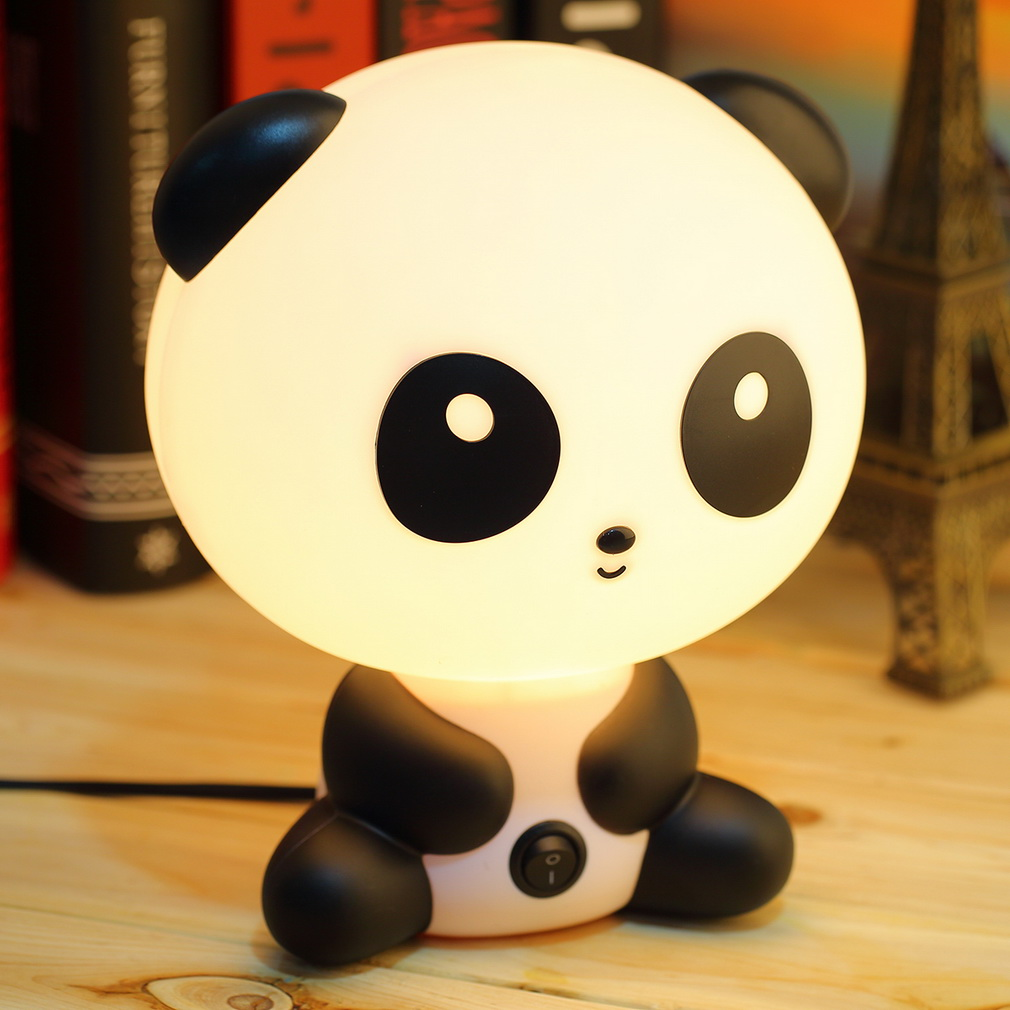 1pcs pretty Cute Panda Cartoon animal night light,Kids Bed Desk Table Lamp Night Sleeping led night lamp Chrismas Gift цена
