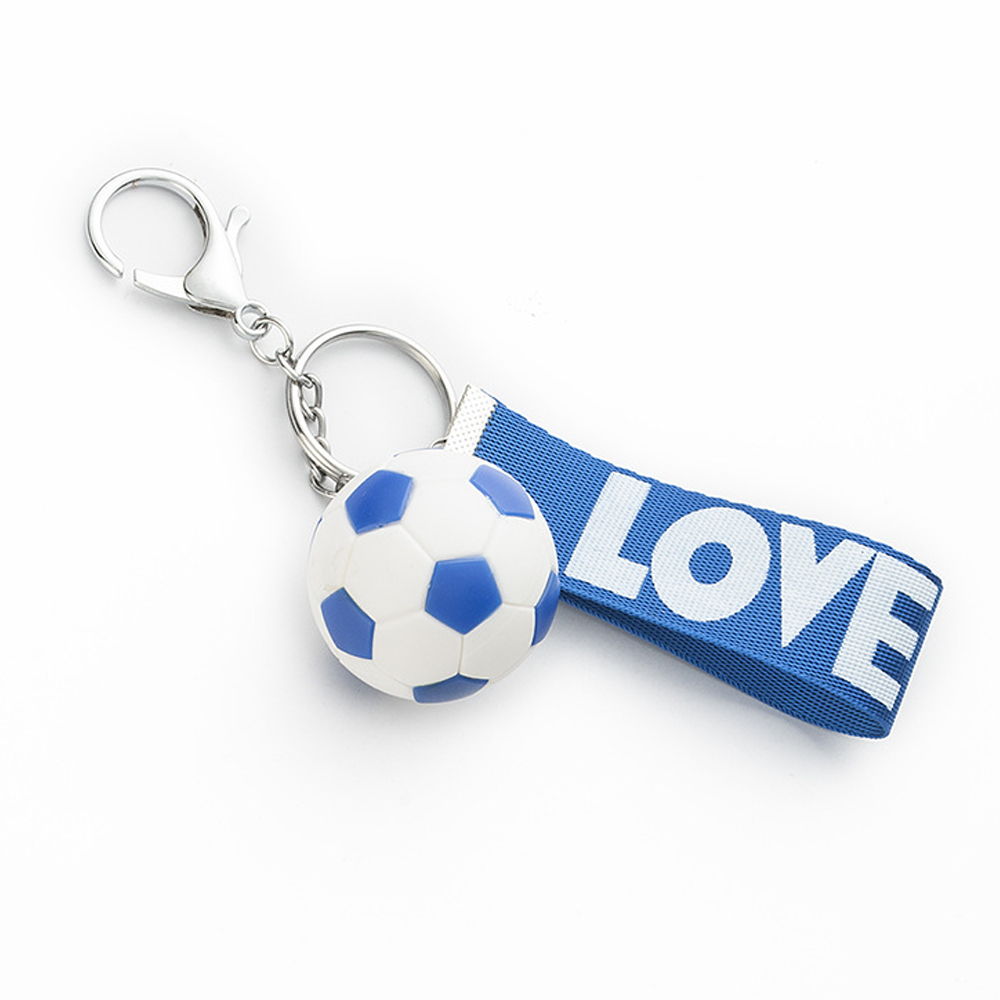 Hot Sell Football Chains Nylon Rope Soccer Love KeyChain Holder For Women Men Soccers Fans Gifts Souvenir