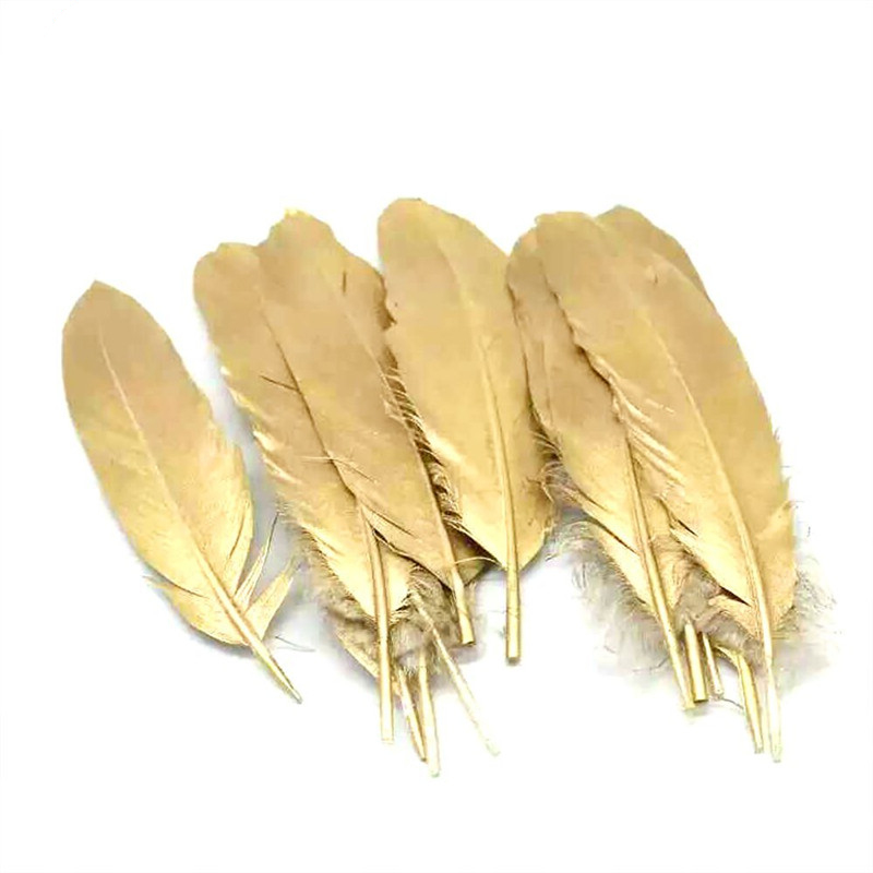 Wholesale Gold Silver Color Goose/Duck Feathers DIY Crafts Jewelry Accessories wedding Decoration Newest to the market Plumes