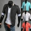 El nuevo 2014 diseño de la chaqueta de los hombres de ocio personalidad de la moda verano 7 minutos de la manga cultiva su juego de la moralidad