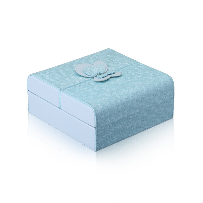 Jewelry Organizer Packaging Box Casket Exquisite Makeup Case Cosmetics Beauty Storage Container Boxes Christmas Gift Blue Color jewelry box european style makeup case cosmetics beauty organizer wedding birthday gift earrings necklace jewelry storage box