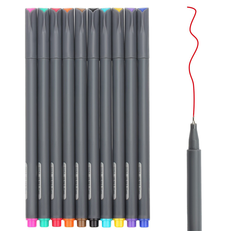 10 Colored Bullet Journal Pen Planner 0.38mm Fine Point Markers Drawing Pen Porous Coloring Book Architecture Art Projects10 Colored Bullet Journal Pen Planner 0.38mm Fine Point Markers Drawing Pen Porous Coloring Book Architecture Art Projects