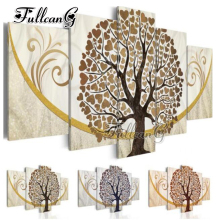 FULLCANG needlework diy 5 pieces diamond painting love tree full square/round drill 5d cross stitch embroidery kits gift FC100