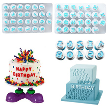 DIY Alphabet Pastry Cookie Cutters 26pcs Upper&Lowercase + 10pcs Number Biscuits Molds