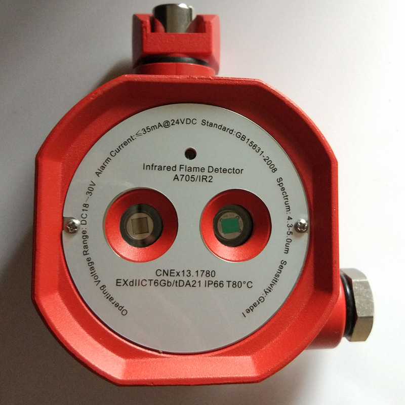 Dry Contact Explosion Proof  Double Infrared Flame Detector  A705IR2 Fire Alarm Relay Output Fault Relay Output IR2 EXdIICT6