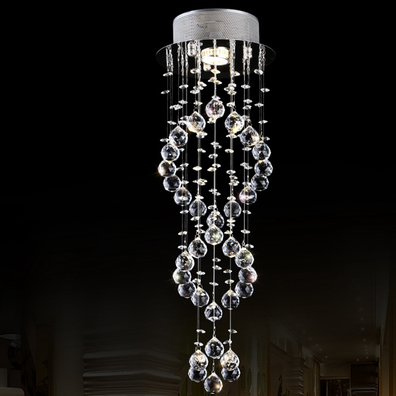 LukLoy Hotel Lobby Decorative Crystal Ceiling Light Aisle Corridor Lamp Home Living Room Balcony Porch Simple Small Crystal Lamp modern led ceiling lamp aisle simple living room porch balcony study room long lamp