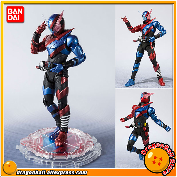 все цены на Original BANDAI Tamashii Nations S.H. Figuarts Action Figure - Kamen Rider Build Rabbit Tank Form -20 Kamen Rider Kicks Ver.- онлайн
