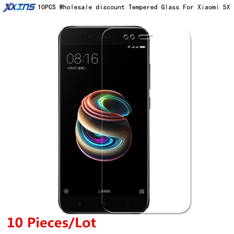 10PCSlot Tempered Glass For Xiaomi 5X mi5X Screen Protect smartphone Ultrathin Toughened Protective 9H Film on mi A1