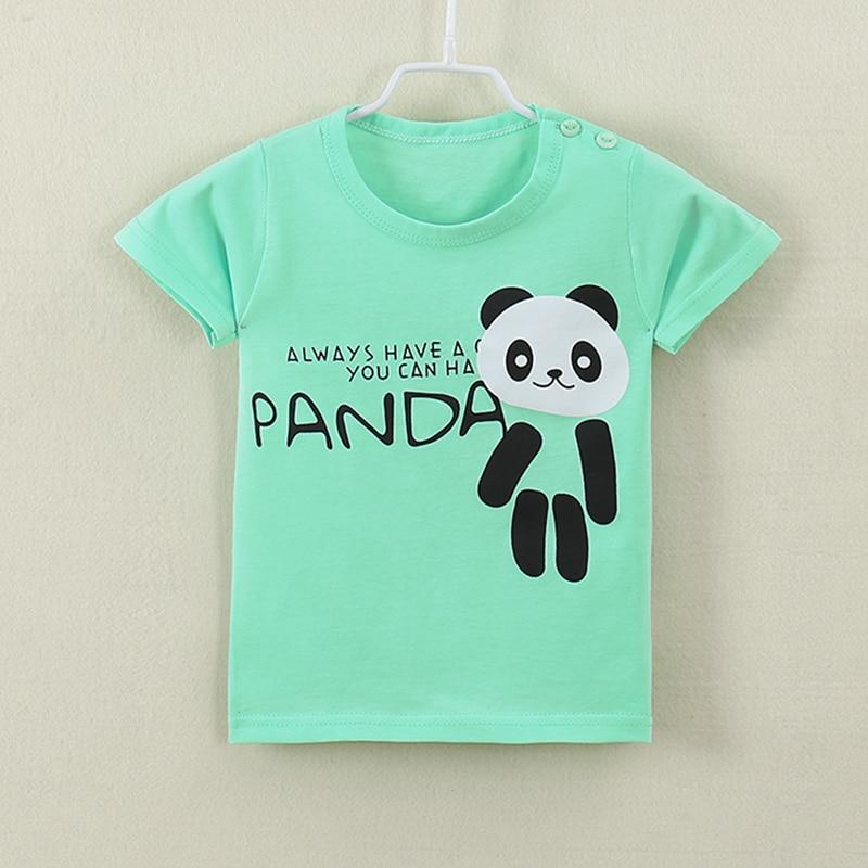 Cute Cartoon Panda Family Toddler Boys Girls Short Sleeve T Shirt Kids Summer Top Tee 100/% Cotton Clothes 2-6 T