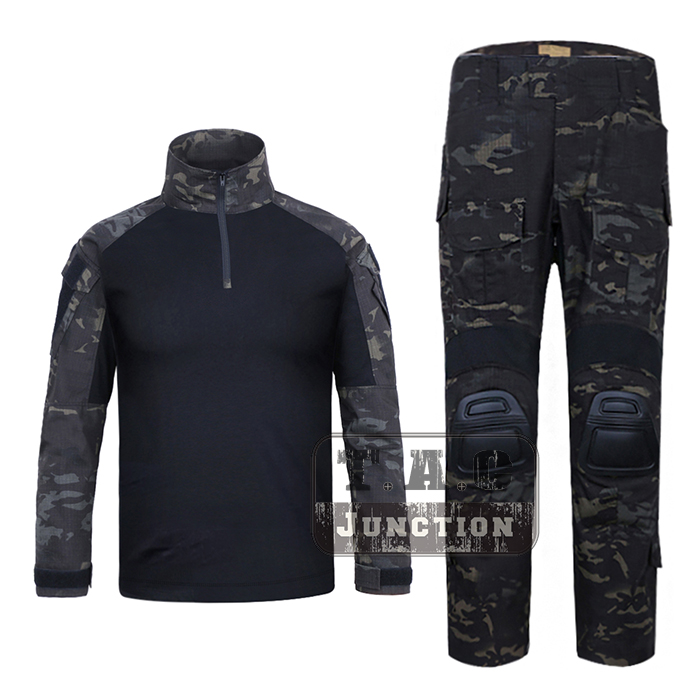 Emerson G3 Combat Shirt & Pants BDU Uniform Set w/ Knee Pads EmersonGear Tactical Military GEN3 Camouflage Hunting Clothing