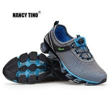 NANCY TINO Calzado deportivo para hombre Ejercicio par de zapatillas de malla transpirable Mujer Zapatillas para correr al aire libre con amortiguación de impactos