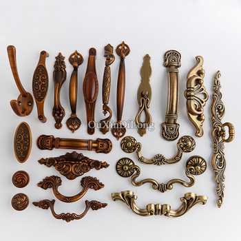 European Antique 10PCS Kitchen Door Furniture Handles Robe Clothes Hooks Cupboard Drawer Wardrobe Cabinet Pulls Handles & Knobs