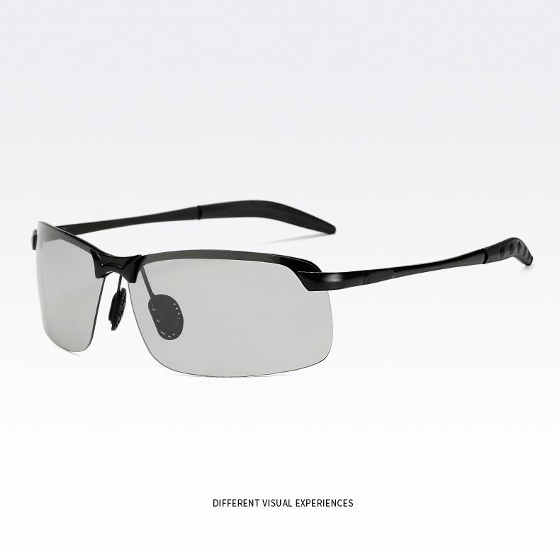 UVLAIK Classic Driving Photochromic Sunglasses Men Polarized Chameleon Discoloration Sun glasses for men Anti-glare Goggles 3043
