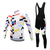 Men Long Sleeve Bicycle Cycling Sets Anti sweat Stripes Pattern 3D Padding Cushion Sport Jerseys Customized/Wholesale Service|Cycling Sets|   -