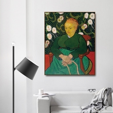 La Berceuse by Vincent Von Gogh Poster Print Canvas Painting Calligraphy Home Decor Wall Art Pictures for Living Room Bedroom s palmgren berceuse