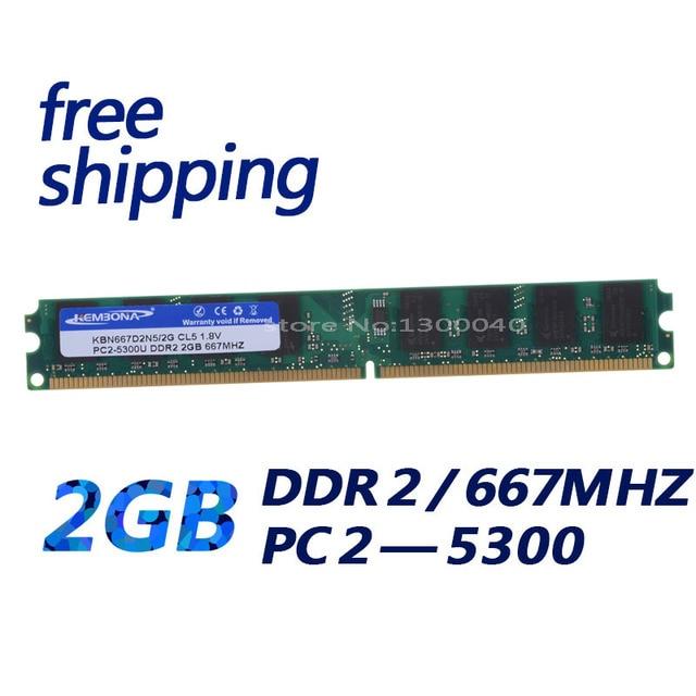 KEMBONA tout nouveau ordinateur de bureau scellé RAM DDR2 2 GB 2G 667 Mhz PC2 5300 pour toutes les cartes mères utiliser la mémoire RAM/livraison gratuite!!!