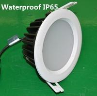 חמה למכירה 15 W/12 W שקוע ספוט תאורת led עמיד למים IP65 הוביל אור התקרה למטה מנורת AC85-265V משלוח חינם 16 יח'\חבילה