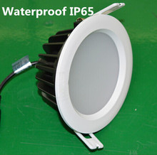 Hot  sale 15W /12W Recessed Waterproof IP65 led ceiling light Spot lighting down lamp AC85-265V Free shipping 16pcs/lot