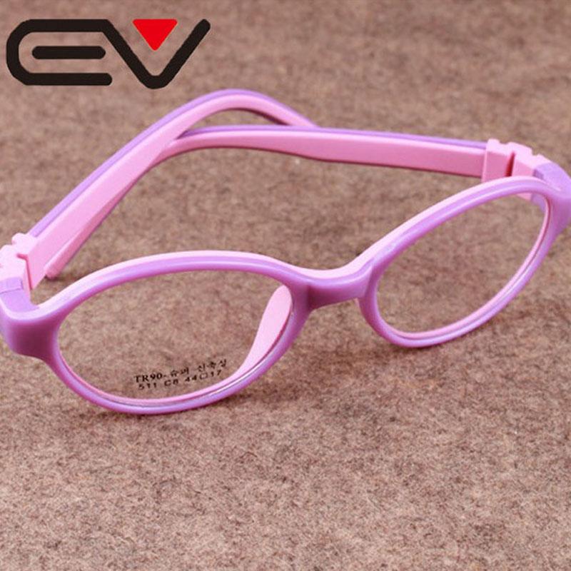 Boys High Quality Silicone Eyeglasses Childrens Myopia Hyperopia Amblyopia Glasses Frame Girls Super Lightweight Frames EV0270