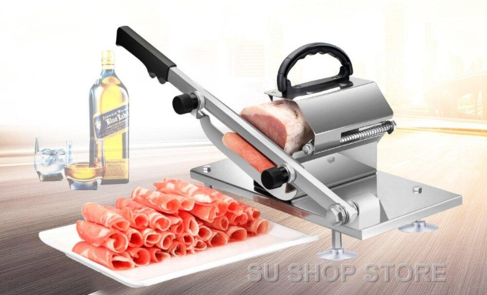 Автоматическая подача баранины Slicer Главная руководство мясо машина коммерческих жир крупного рогатого скота баранины Roll замороженных мяс...