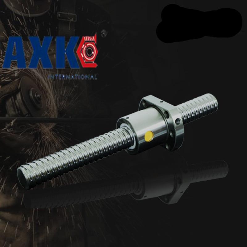 Anti Backlash RM2510  Ball Screw SFU2510 L= 600mm Rolled 2510 Ballscrew + one ball nut