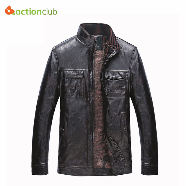 Leather Jacket Men Winter Thickening Wool Windbreak Waterproof Jaqueta De Couro Masculina PU Warm Casual Coat Plus Thick Velvet