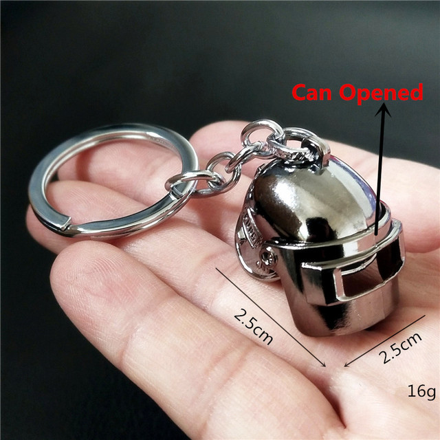 Game PUBG 98K Weapon Pan Can Opened Helmet Key Chain