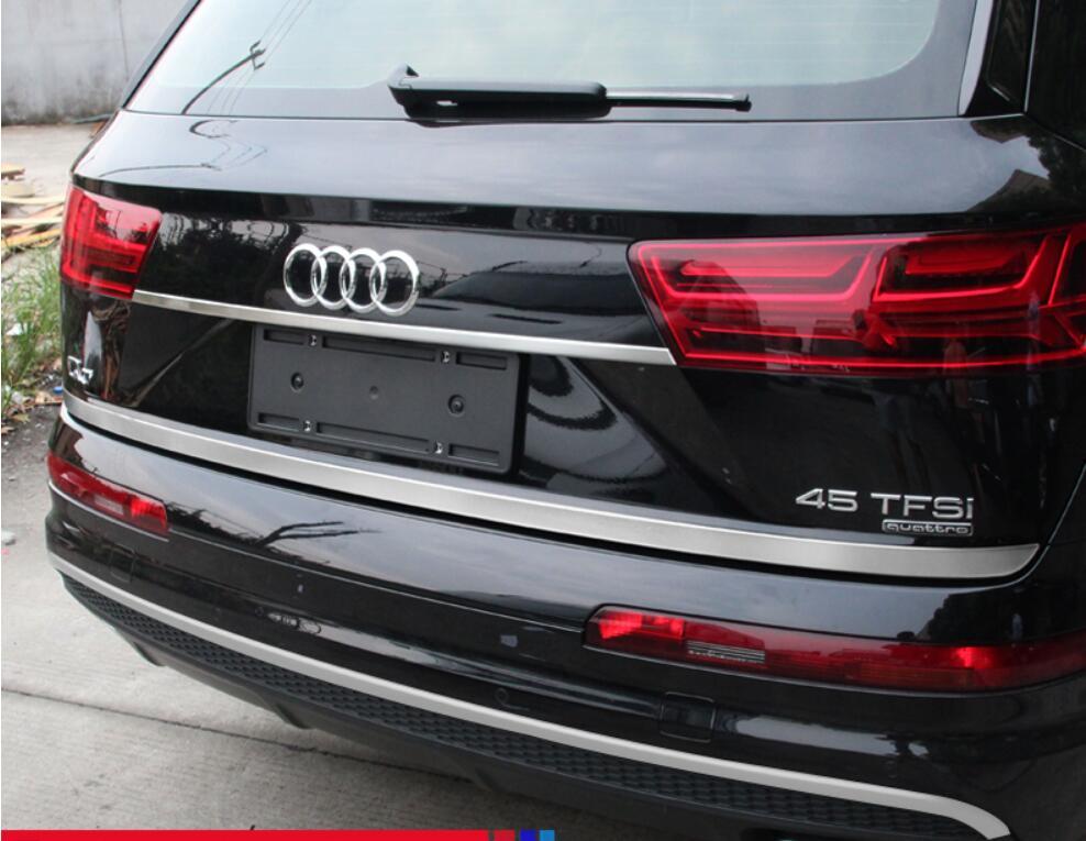 JINGHANG voiture en acier inoxydable porte arrière hayon cadre bas coffre plaque garniture capots adaptés pour Audi Q7 2016 2017 2018