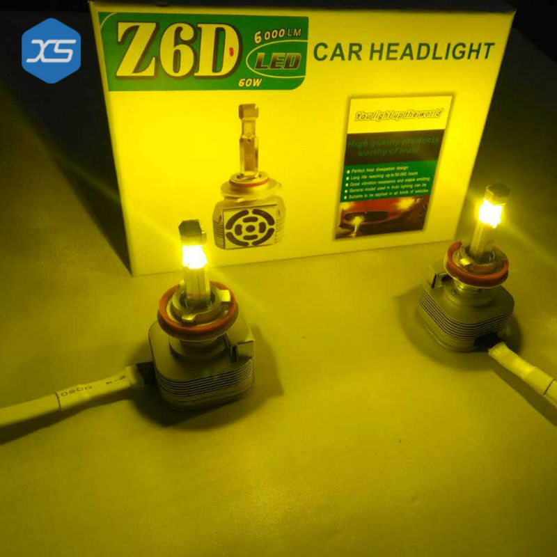 4 Sides LED H4 H1 H3 9005 9006 Car Headlights Bulbs 60W/80W 12V Head Lamps Car light Source H4 6000k White h3 led yellow