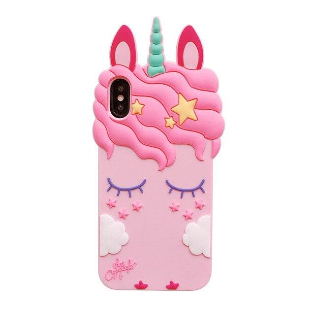 Pink Unicorn Soft Silicone Case