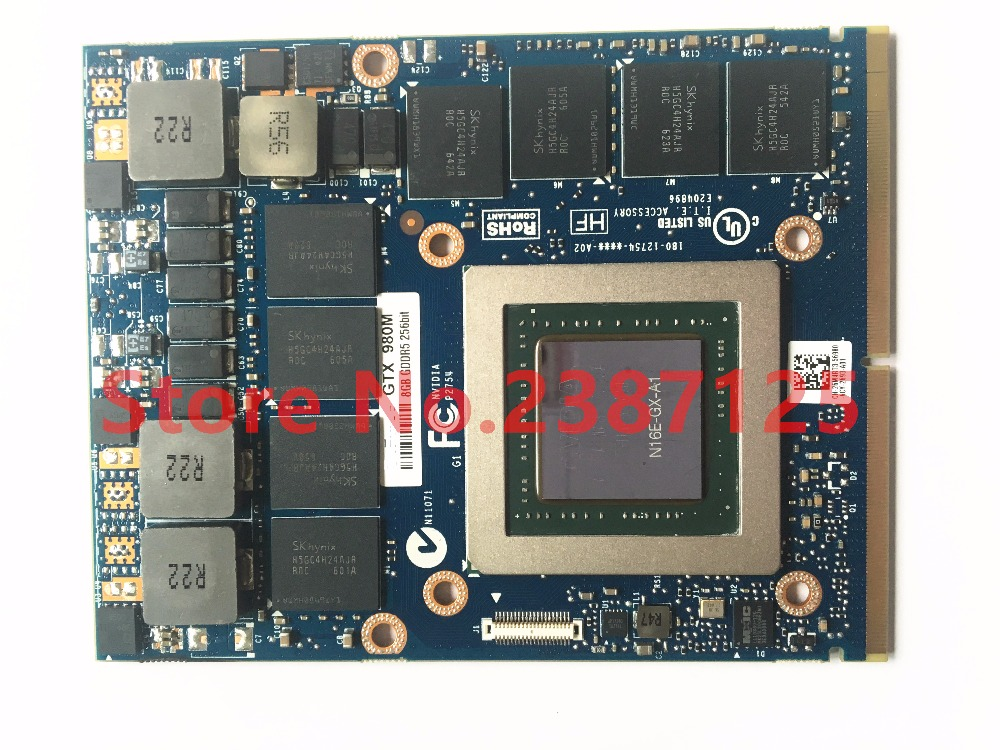 GTX980M GTX 980M Graphics GPU Card N16E-GX-A1 8GB GDDR5 For Alienware Clevo GTX980 Video Card GPU Replacement direct heating n16e gt a1 n16e gx a1 n15e gx a2 n15e gt a2 stencil