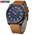 CURREN Fashion Men Quartz Watches Casual Leather Strap Sports Wristwatches Relogio Masculino 8168