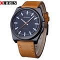 Curren moda masculina de quartzo relógios casual leather strap sports relógios de pulso relogio masculino 8168
