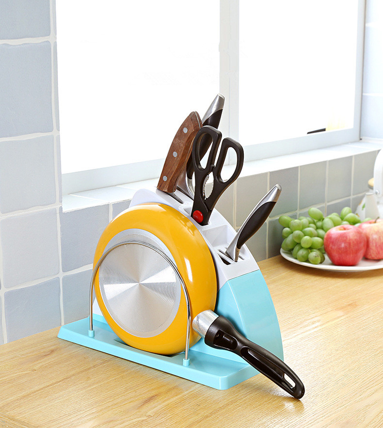 1PC Multifunction Color Plastic Kitchen Knife Holder Universal Knife Block Stand Under Blades For Kitchen Knives Tool OK 0584