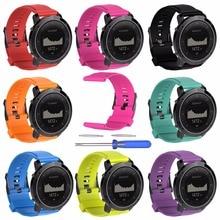Saat kayışı suunto için geçerli Suunto traverse watchband spor traverse serisi İzle silikon kayış jimnastik